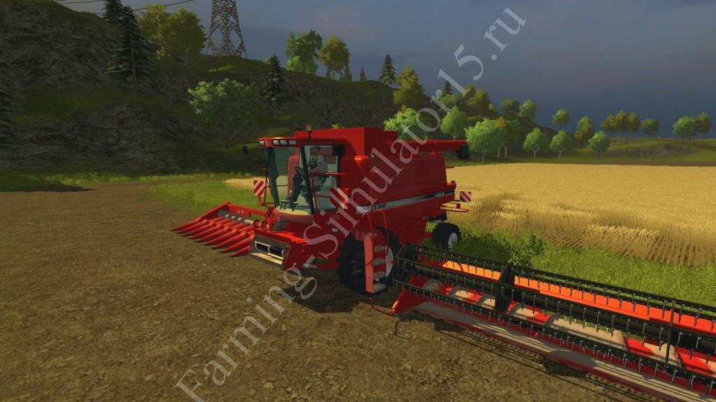 Мод комбайна Case IH 2388 v 2.0 More Realistic Farming Simulator 2013, Farming Simulator 13