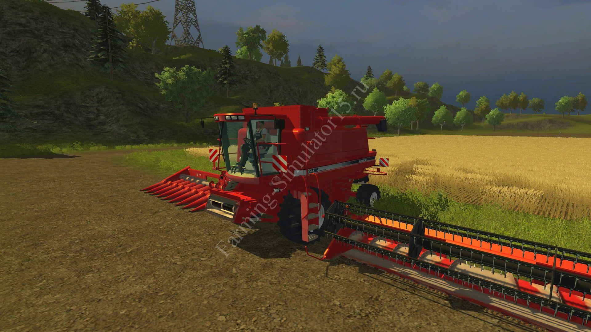 Мод комбайна Case IH 2388 v 2.0 More Realistic Farming Simulator 2013, Farming Simulator 13