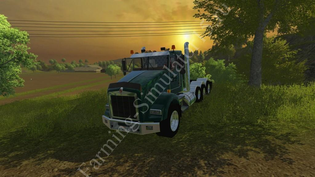 Мод грузовика Kenworth T800 v 1.0 More Realistic Farming Simulator 2013, Farming Simulator 13