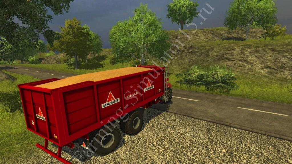 Мод прицепа Anna Burger HTS 22 14 v 3.1 More Realistic Farming Simulator 2013, Farming Simulator 13