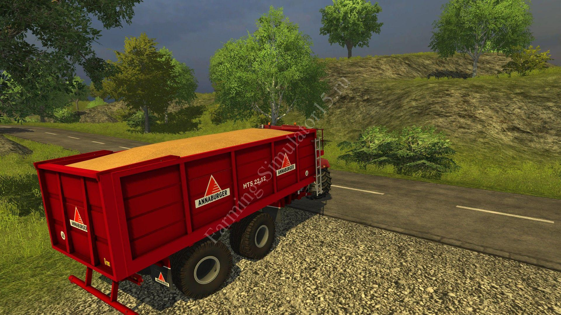 Мод прицепа Anna Burger HTS 22 14 v 3.1 More Realistic Farming Simulator 2013, Farming Simulator 13