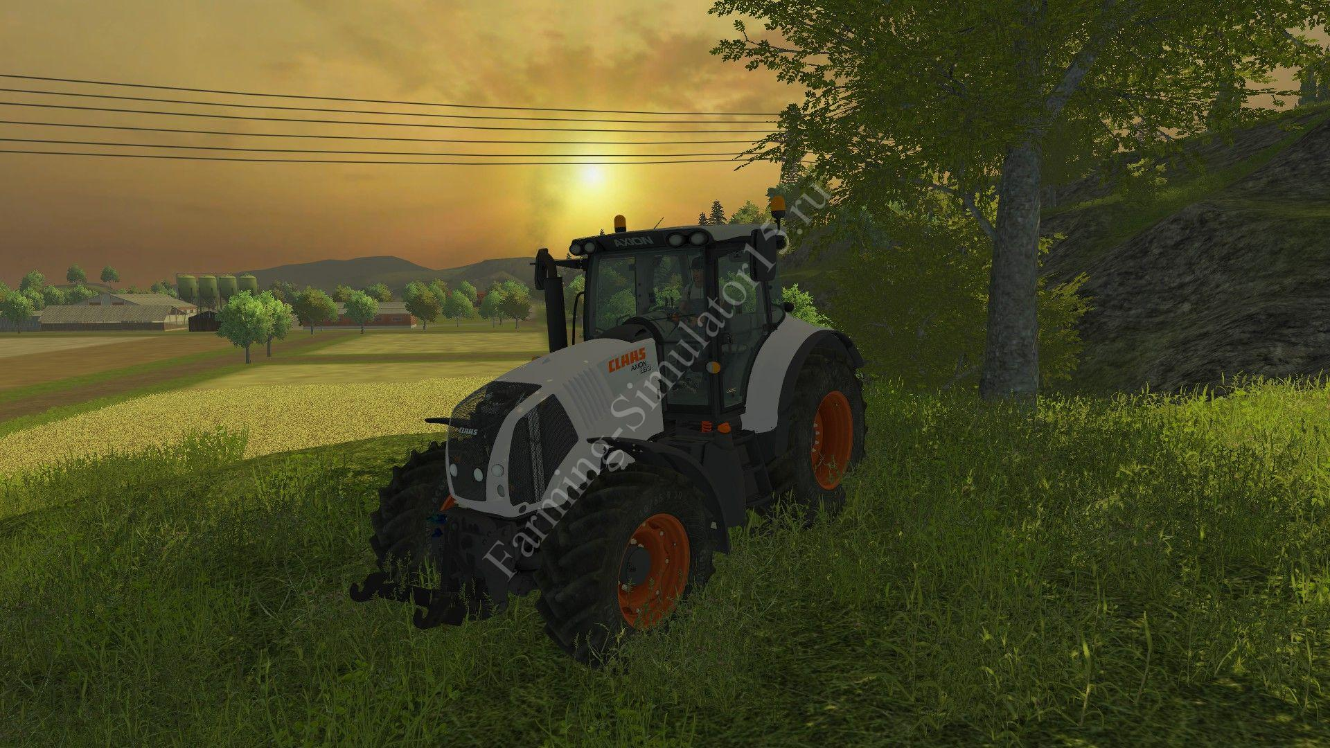 Мод трактора Claas Axion 830 v 2.0 New Skin Farming Simulator 2013, Farming Simulator 13