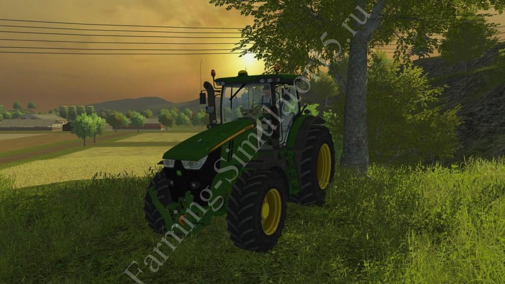 Мод трактора John Deere 7200R v 2.0 Farming Simulator 2013, Farming Simulator 13