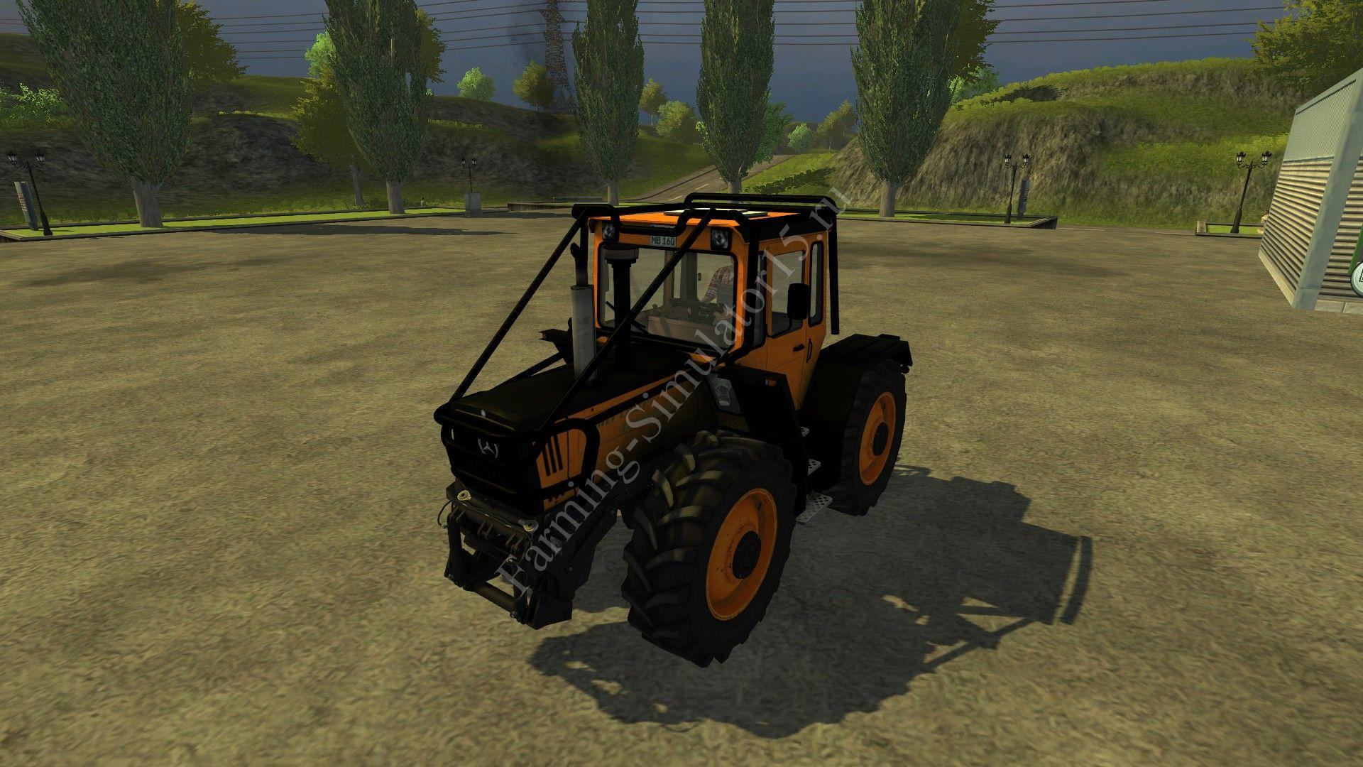 Мод трактора MB Trac 1600 Turbo Orange Forest v 3.0 Farming Simulator 2013, Farming Simulator 13