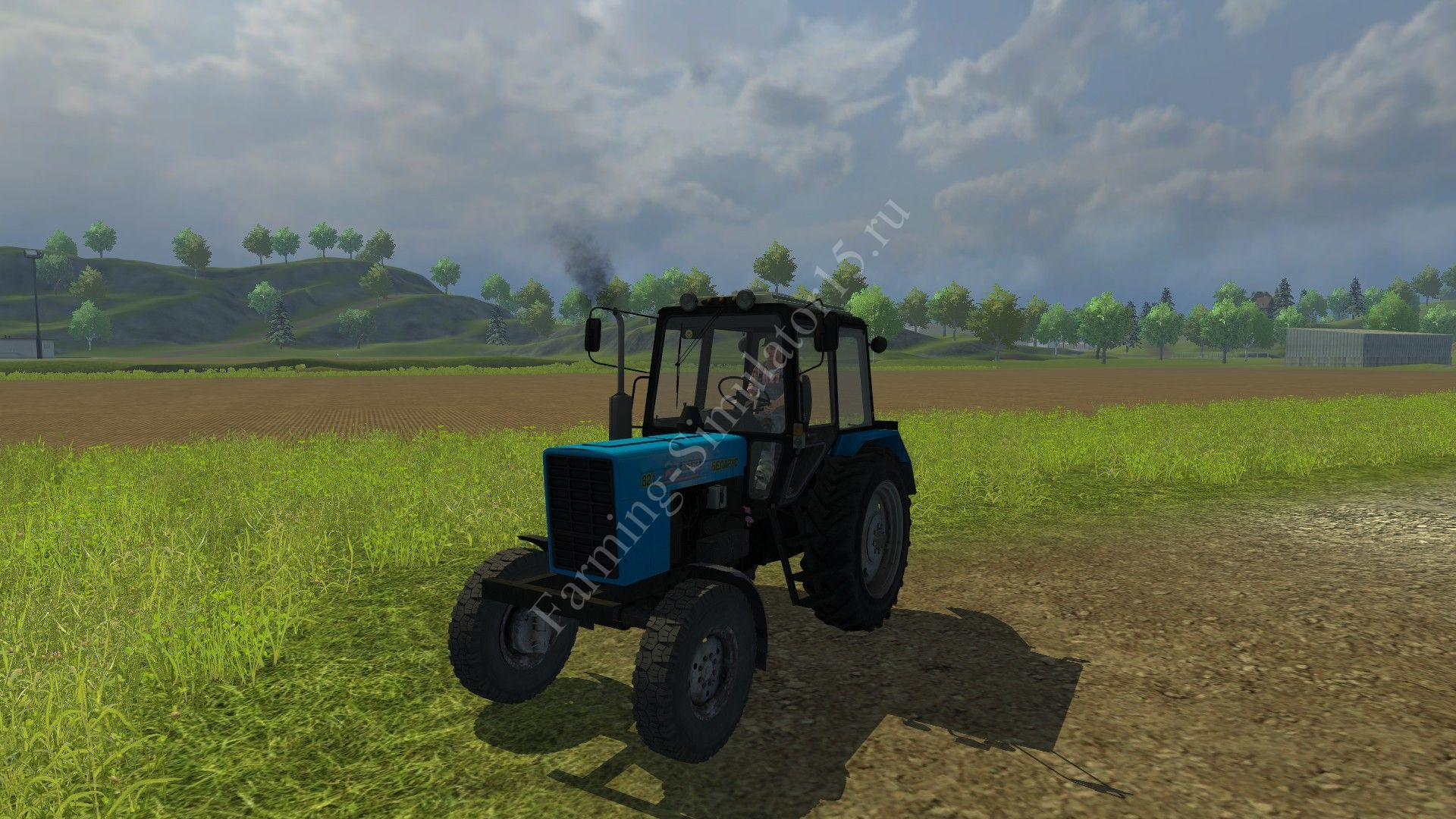 Мод трактора Беларус MTZ 82.1 v 2.0 Farming Simulator 2013, Farming Simulator 13