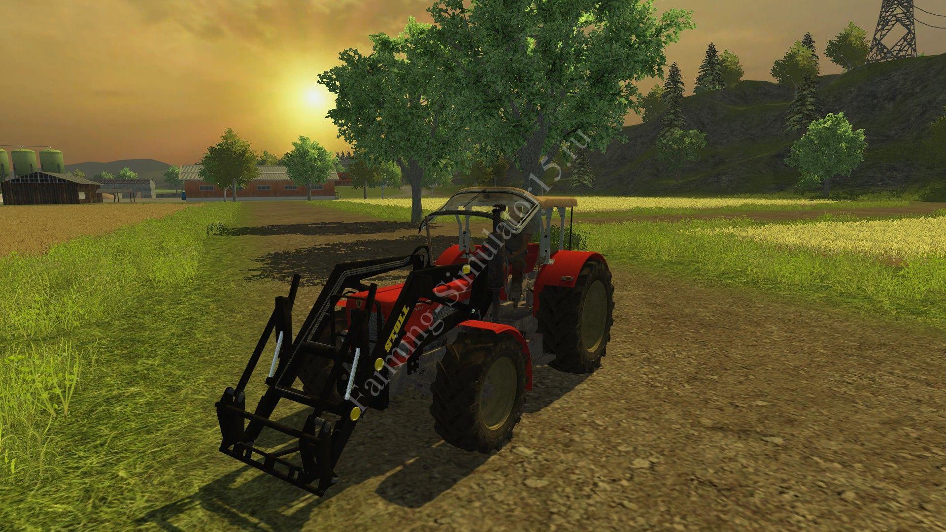 Мод трактора Schlüter Compact 850 V Stoll FL v 1.0 Farming Simulator 2013, Farming Simulator 13