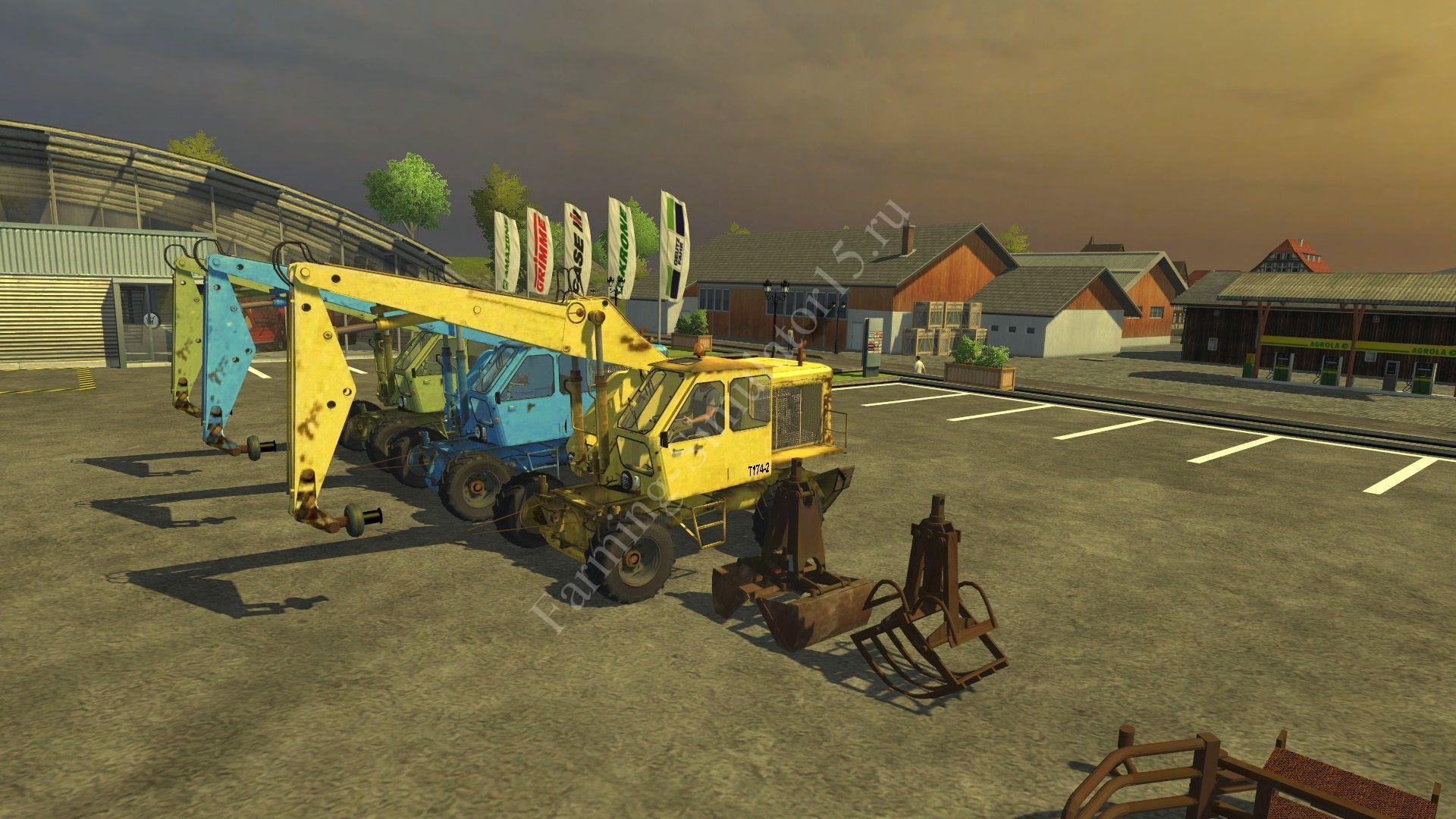 Мод экскаватора Modpack T174 2 v 7.0 Farming Simulator 2013, Farming Simulator 13