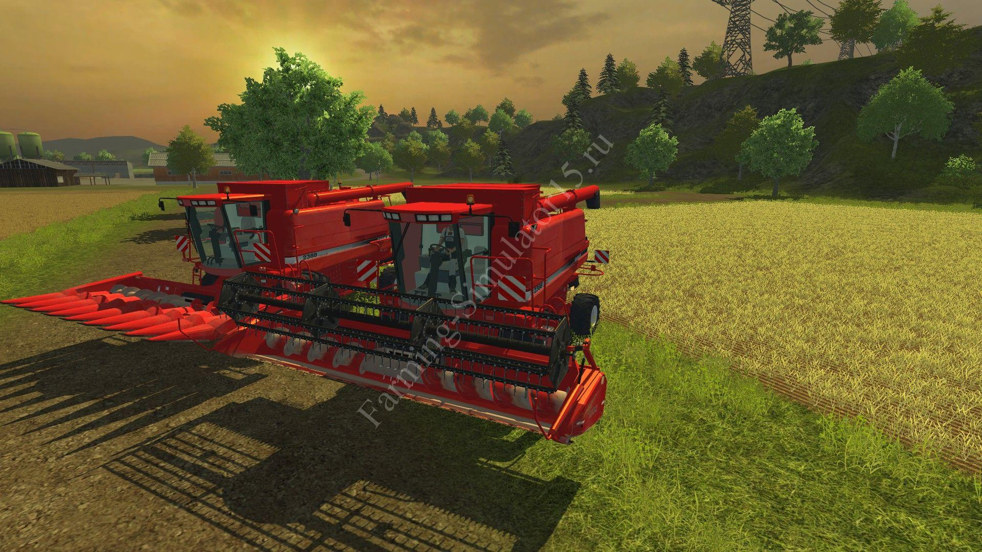 Мод комбайна Case IH 2388 v 2.0 Farming Simulator 2013, Farming Simulator 13