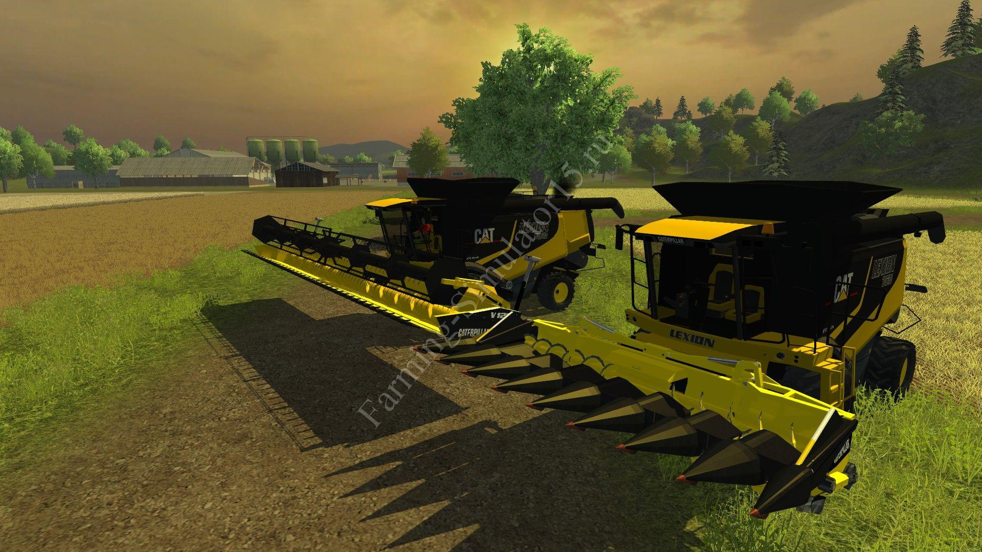 Мод комбайна Cat Lexion 760 Farming Simulator 2013, Farming Simulator 13