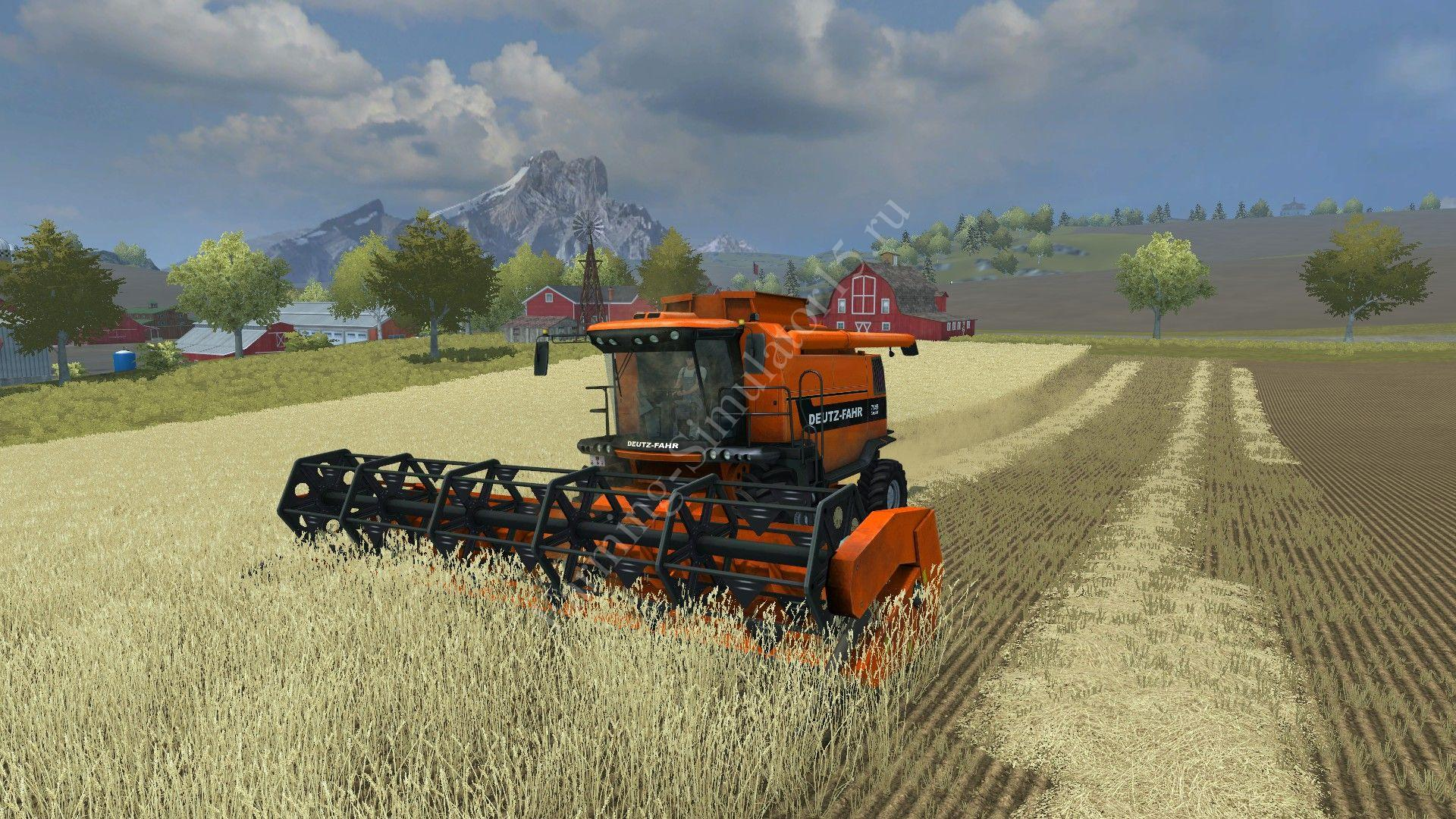 Мод комбайна Deutz 7545 Special v 1.0 Farming Simulator 2013, Farming Simulator 13