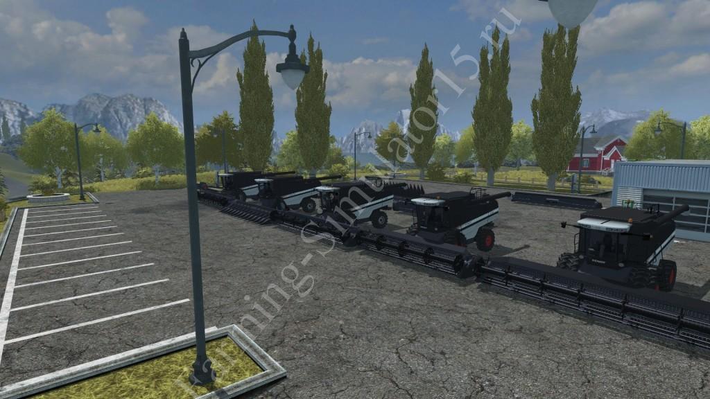 Мод комбайна Fendt 9460 R Black Beauty v 5.5 Farming Simulator 2013, Farming Simulator 13