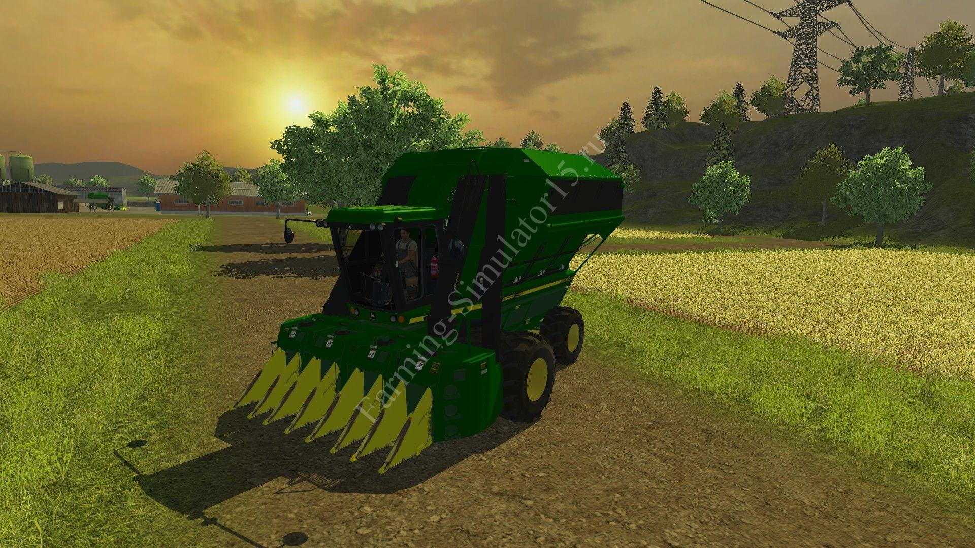 Мод комбайна John Deere 9950 Cotton Harvester V 1.2 Farming Simulator 2013, Farming Simulator 13