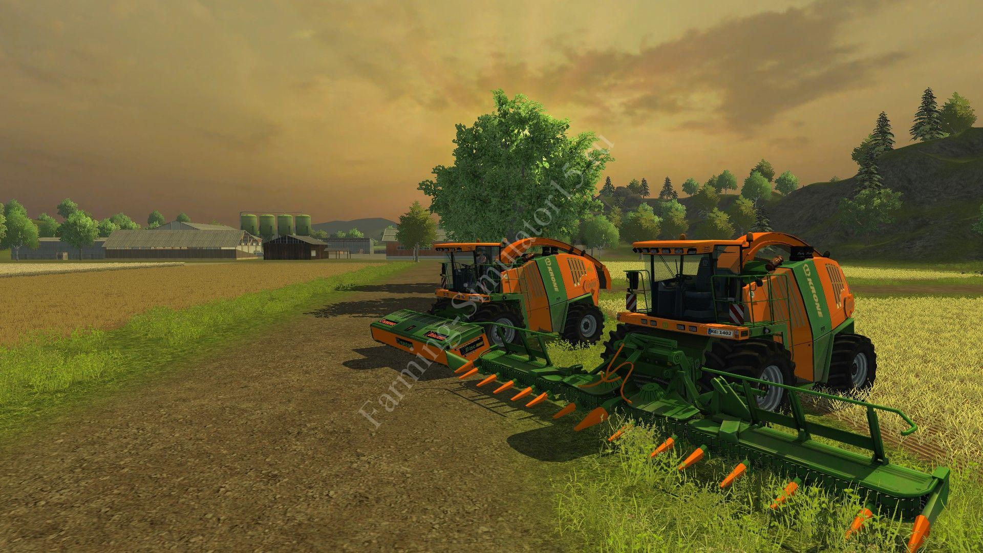 Мод комбайна Krone BIG X 1000 municipal v 2.0 Farming Simulator 2013, Farming Simulator 13