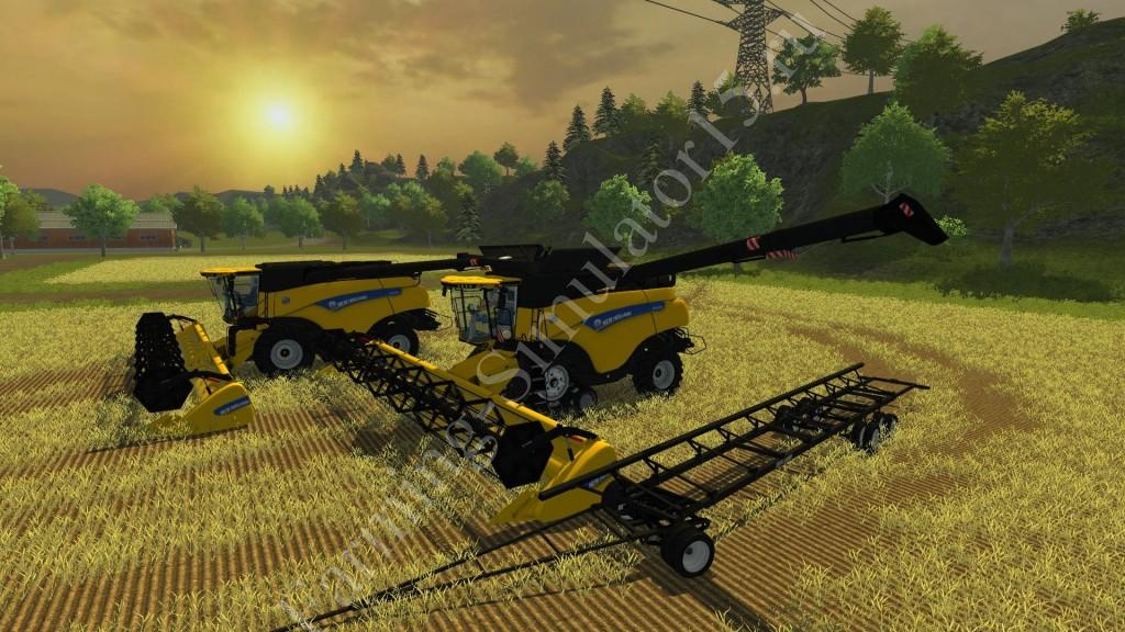 Мод комбайна New Holland CR 1090 v 1.0 Farming Simulator 2013, Farming Simulator 13