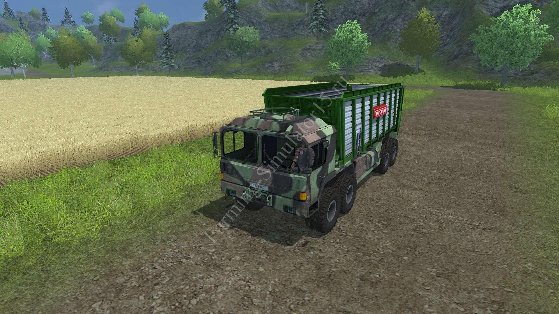 Мод грузовика Man GL 10T v 0.9 Silage Farming Simulator 2013, Farming Simulator 13