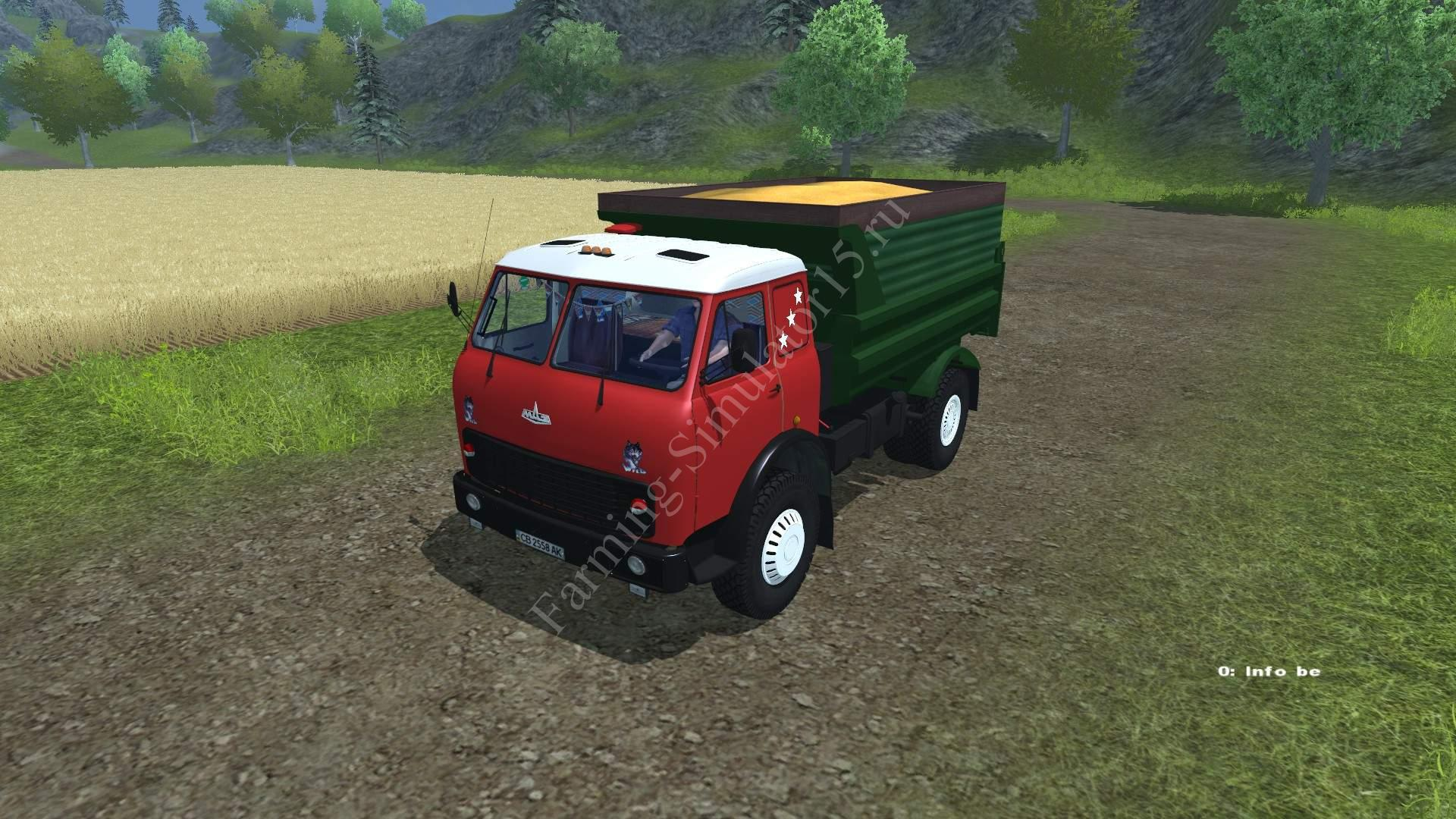Мод грузовика МАЗ MAZ 500 v 1.0 Farming Simulator 2013, Farming Simulator 13