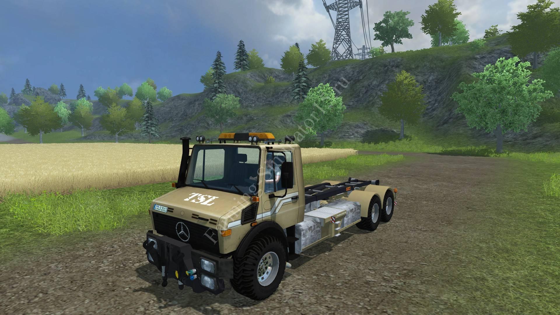 Мод грузовика Mercedes Unimog HKL v 2.0 Farming Simulator 2013, Farming Simulator 13