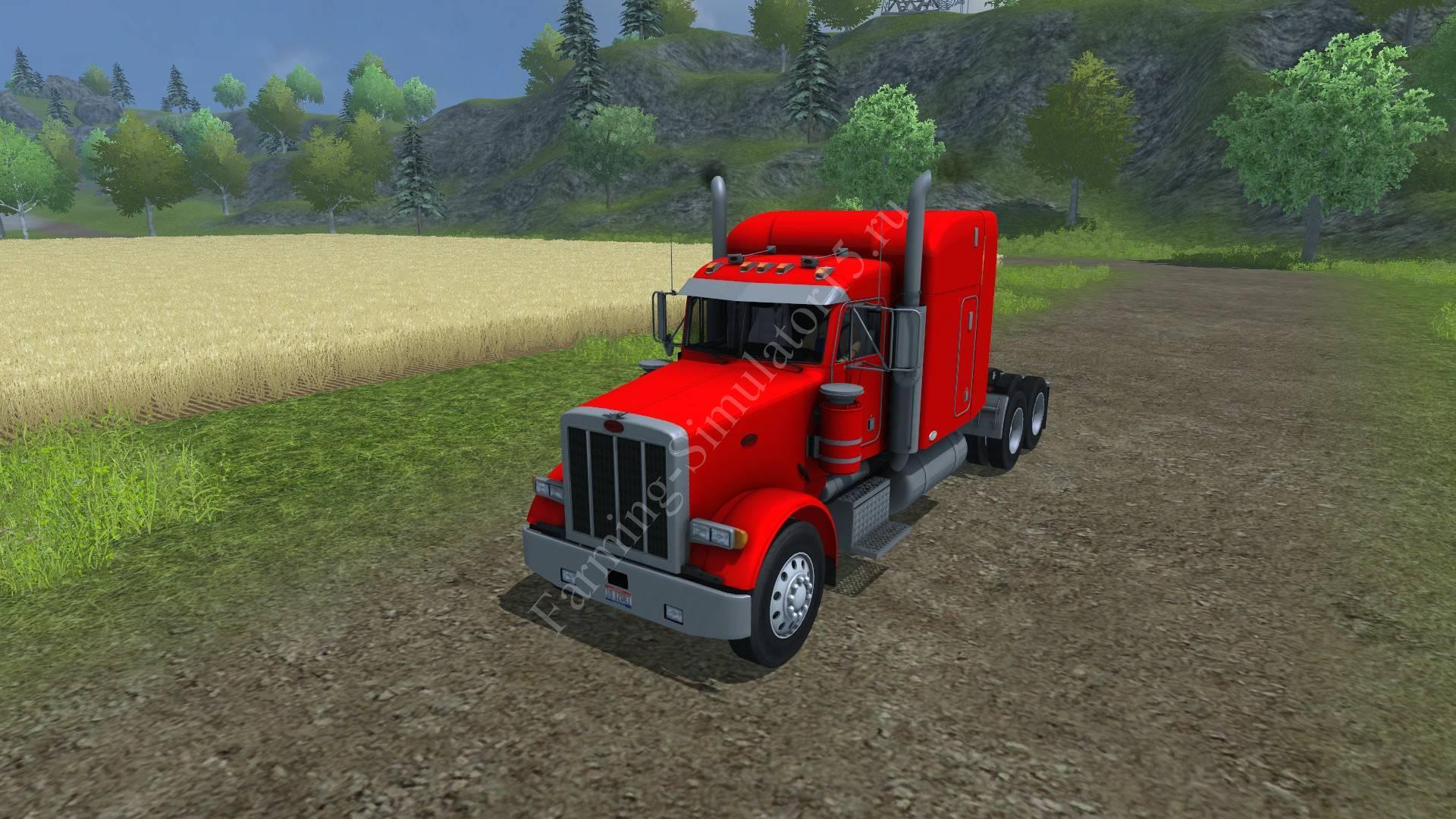 Мод грузовика Peterbilt 378 v 2.0 Farming Simulator 2013, Farming Simulator 2015