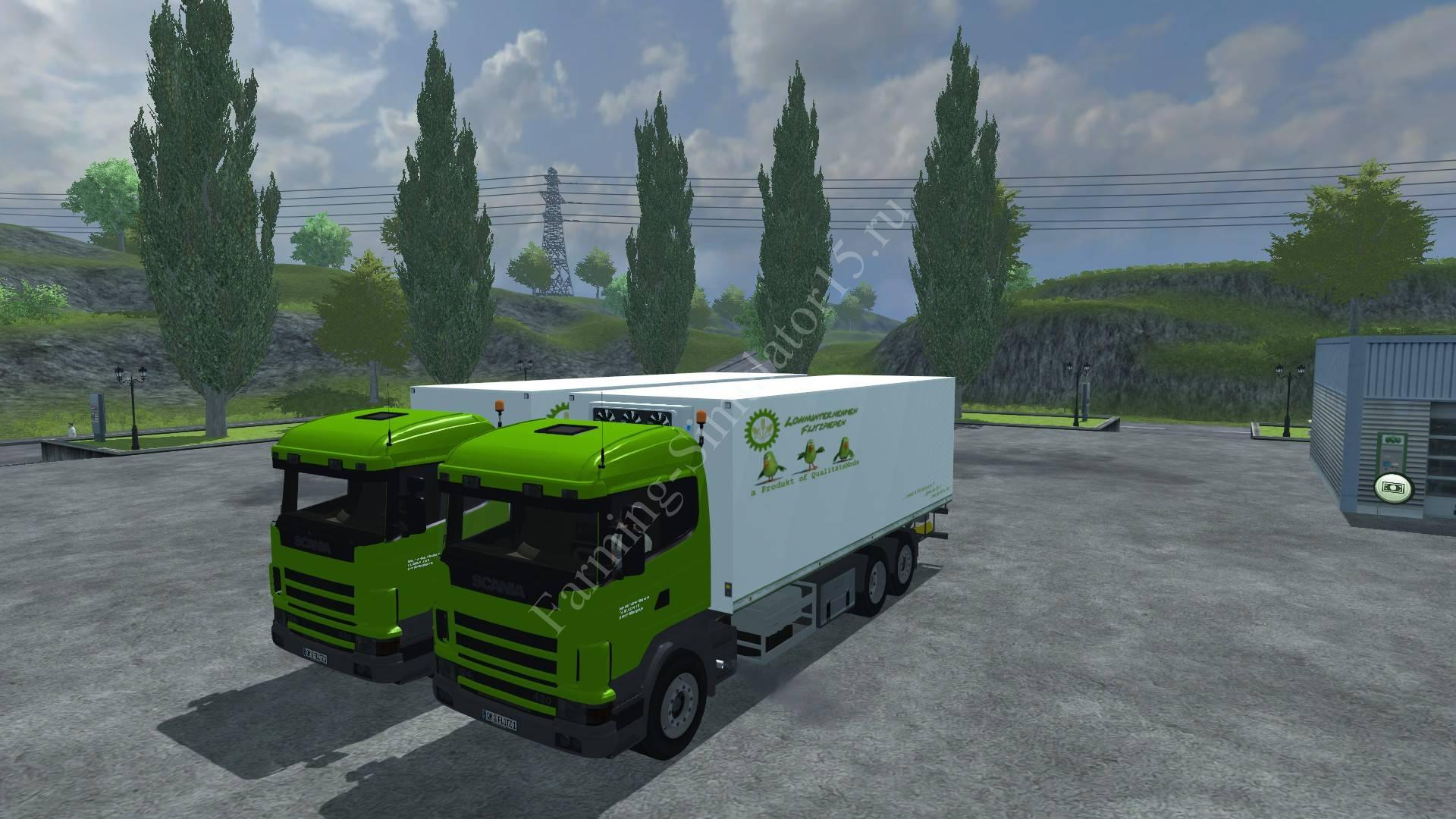 Мод грузовика Scania P420 Kühlaufbau v 1.3 Farming Simulator 2013, Farming Simulator 13