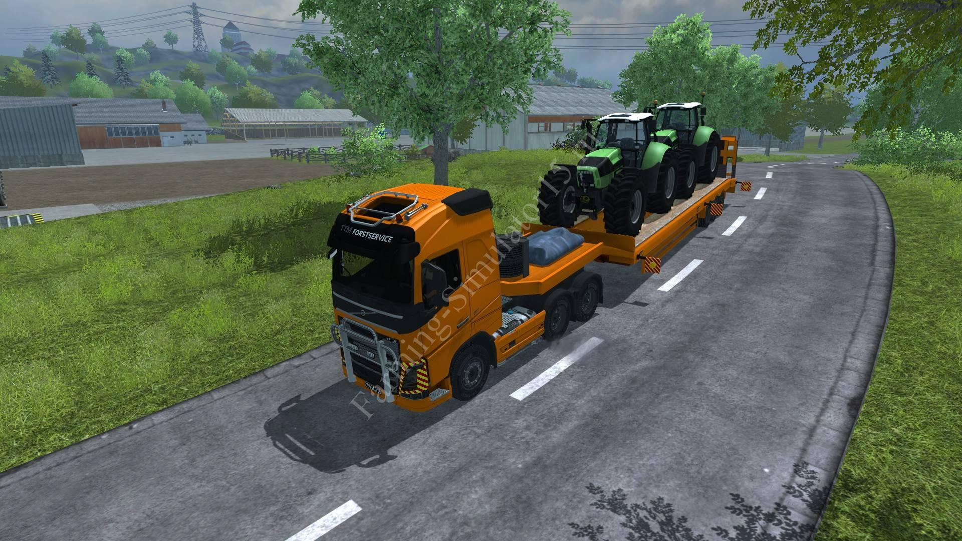 Мод грузовика Volvo FH 16 2012 Speial transport v 1.0 Farming Simulator 2013, Farming Simulator 13
