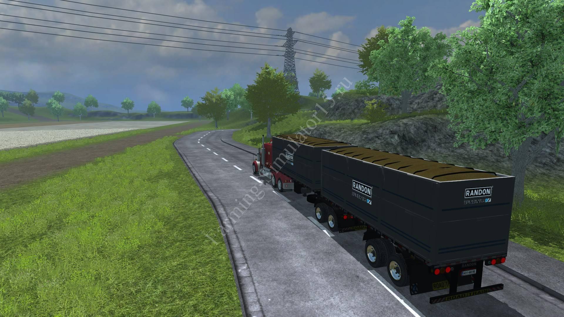 Мод полуприцепа Randon BiTrem Getreideauflieger v 1.0 Farming Simulator 2013, Farming Simulator 13