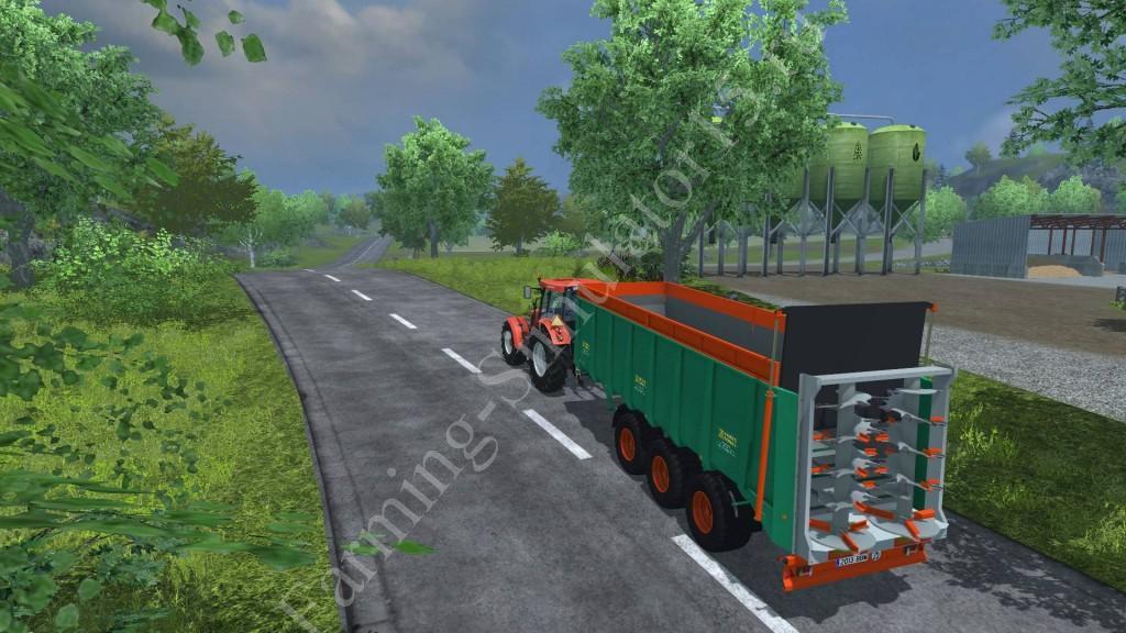 Мод прицепа для удобрения Aguas Tenias ESTR24K v 1.0 Farming Simulator 2013, Farming Simulator 13