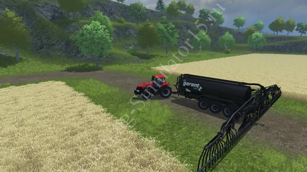 Мод прицепа для навоза Kotte Garant VTR 25000 Black v 1.0 Farming Simulator 2013, Farming Simulator 13
