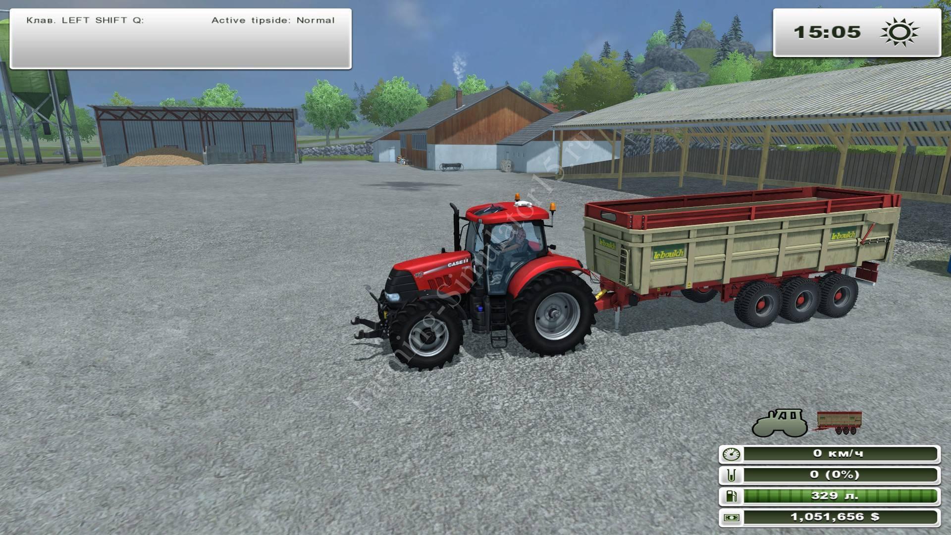 Мод трехосного прицепа Leboulch tridem Gold v 1.1 Farming Simulator 2013, Farming Simulator 13