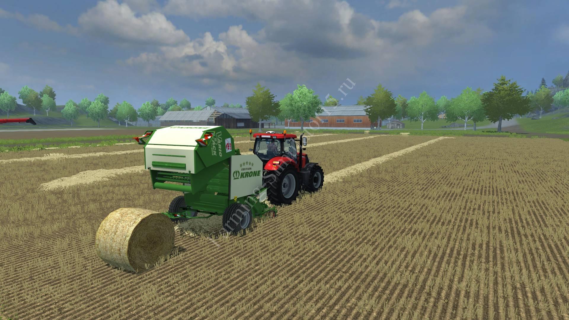 Мод тюкопресса Krone Vario Pack 1200 v 1.0 Farming Simulator 2013, Farming Simulator 13