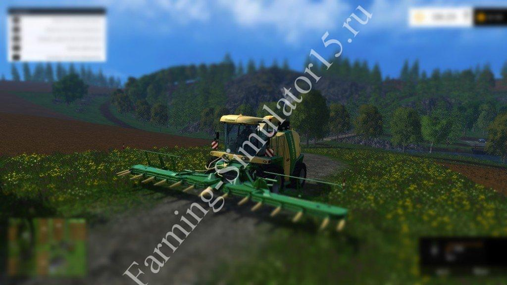 Мод комбайна Krone Big X 1100 v1.1 Farming Simulator 15, 2015