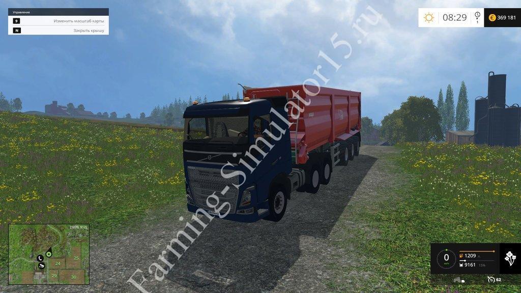 Мод грузовика Volvo FH 750 v1.0 Farming Simulator 15, 2015