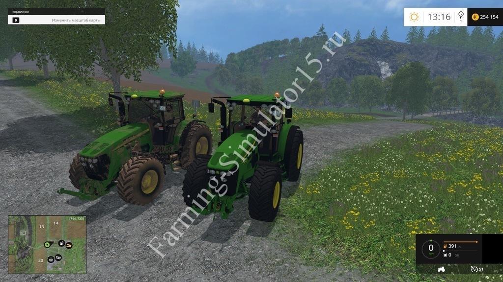 Мод трактора John Deere 7930 WSB Pack v 1.0 Farming Simulator 15, 2015