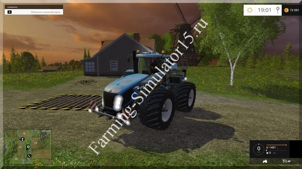 Мод трактора New Holland T9.565 v 1.0 Farming Simulator 15, 2015