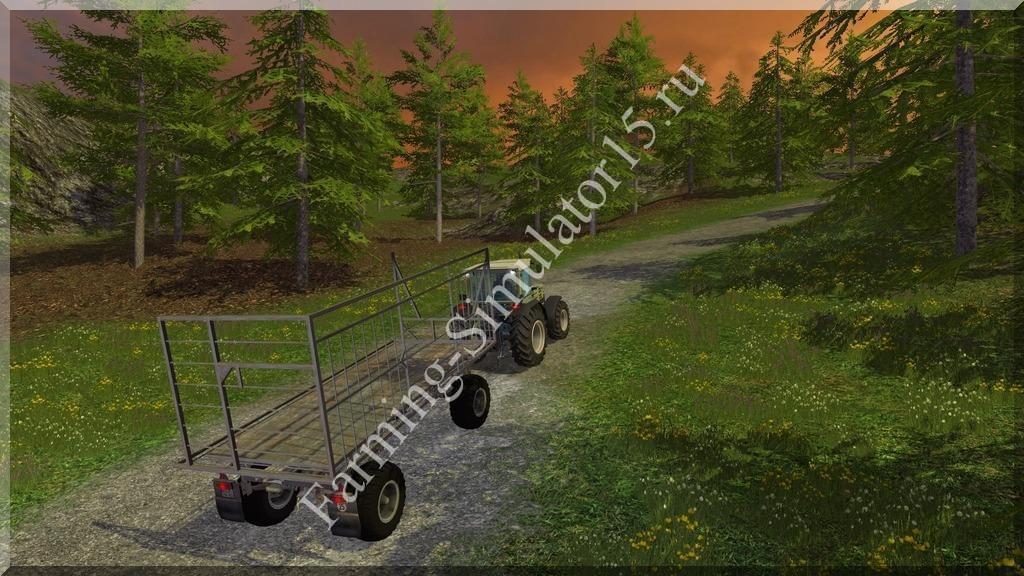 Мод прицепа для тюков HW 80 Ballenwagen v1.0 Farming Simulator 15, 2015