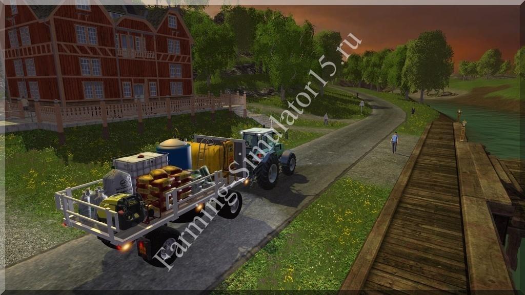Мод прицепа с поворотным кругом Hw 80 Trailer Service v 3.0 Beta Farming Simulator 15, 2015