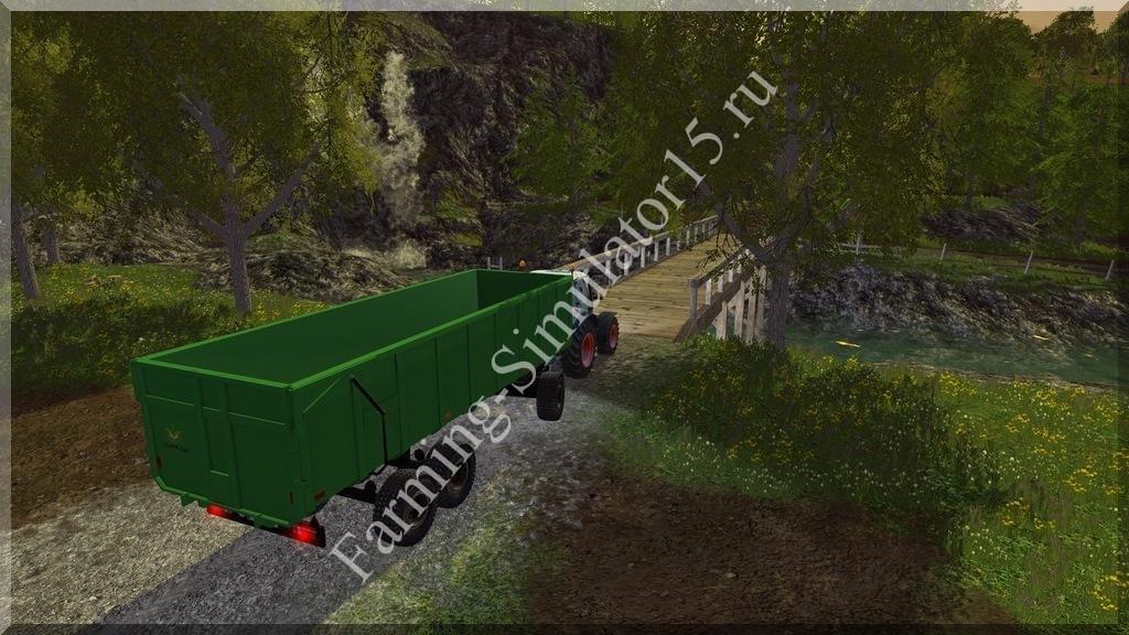Мод прицепа с поворотным кругом Laumetris Trailer 20T V 1.0 Farming Simulator 15, 2015