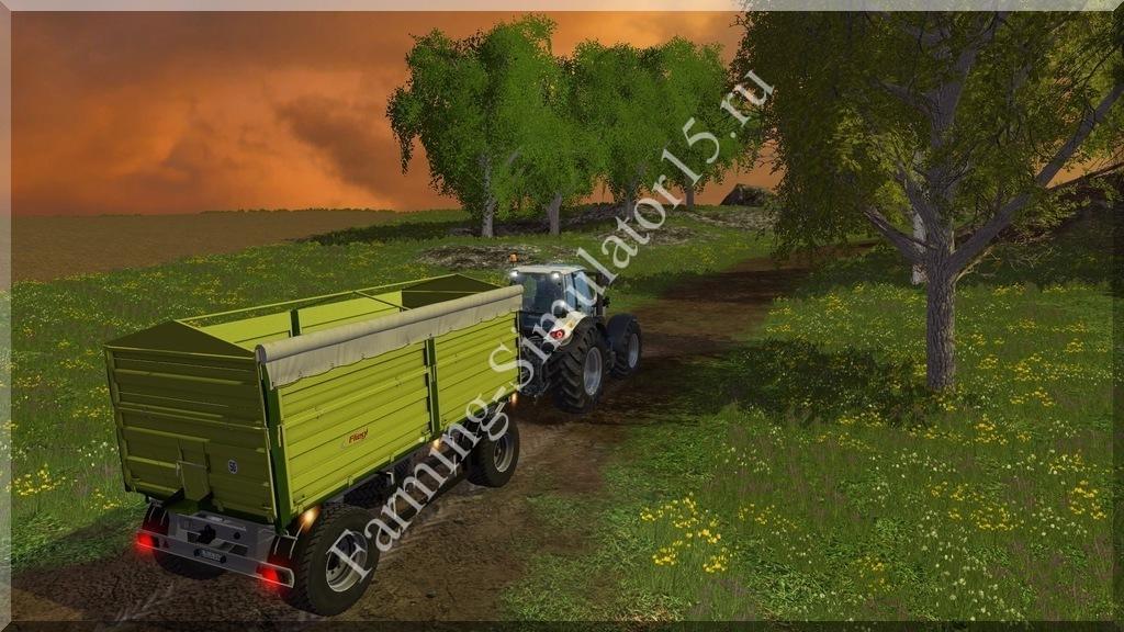 Мод прицепа с поворотным кругом Fliegl DK 180-88 v 1.0 Farming Simulator 15, 2015