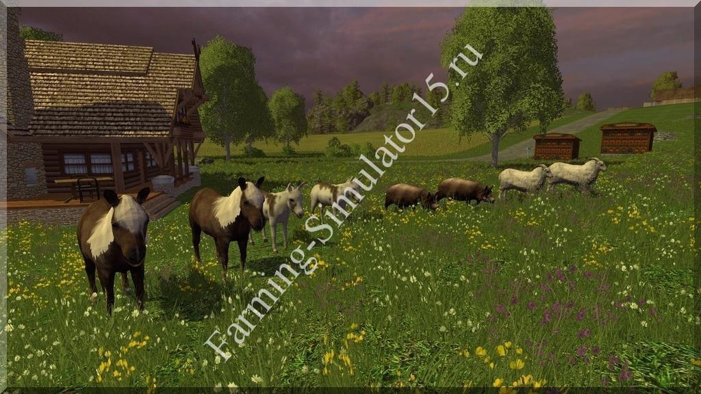 Мод животных Animals v 1.0 Placeable Farming Simulator 15, 2015