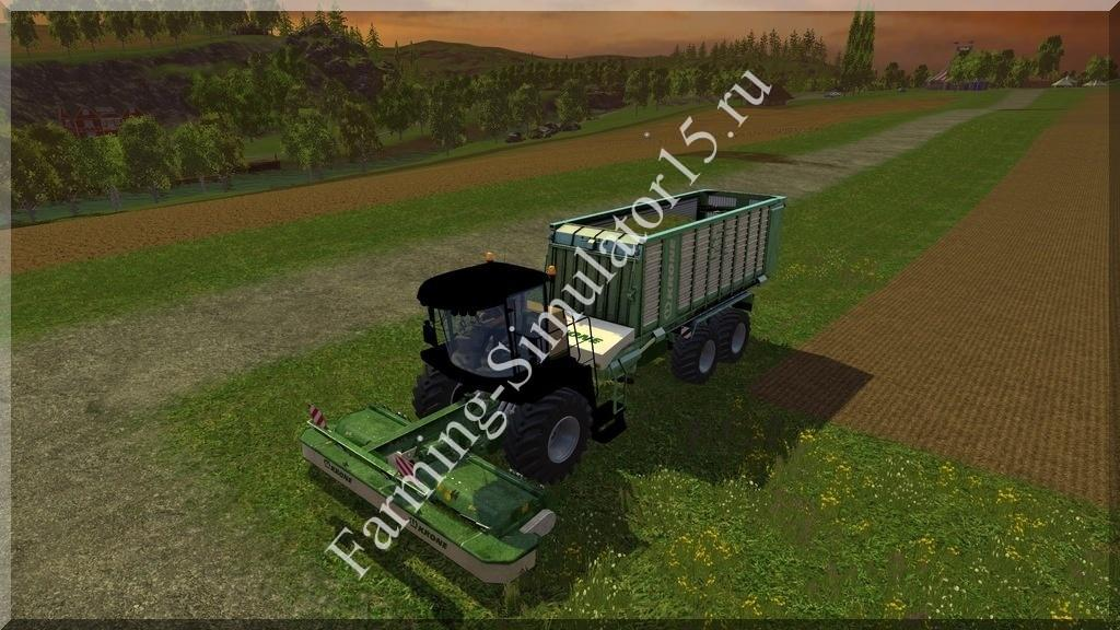 Мод газонокосилки Krone BIG L500 Prototype v 1.9 Farming Simulator 15, 2015