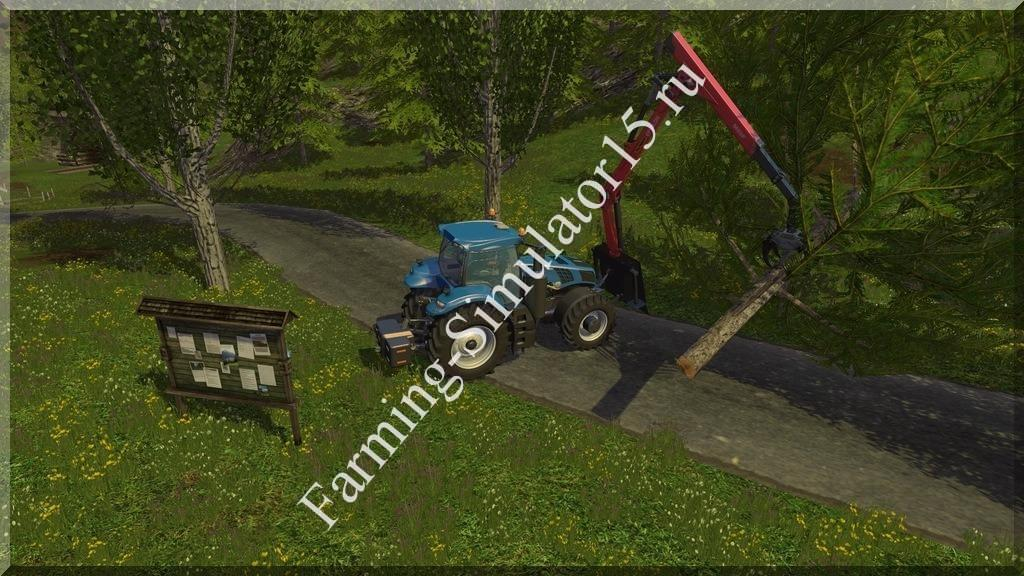Мод манипулятора Forestry Heckkran v 1.0 Farming Simulator 15, 2015