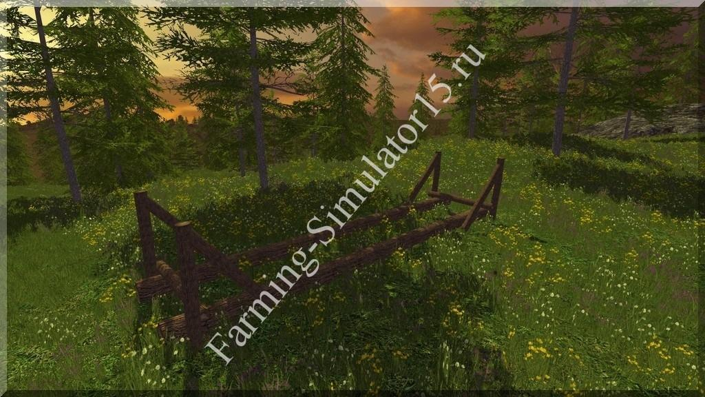 Мод хранилище для деревьев Timber Loading Point v 1.2 Placeable Farming Simulator 15, 2015