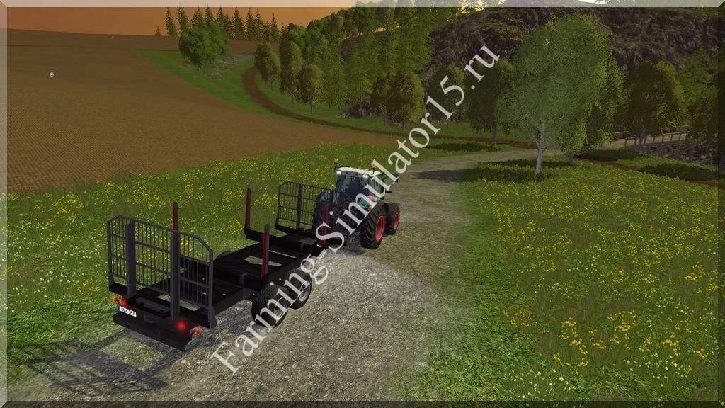 Мод прицепа Tandem Rungenwagen v 1.3 Farming Simulator 15, 2015