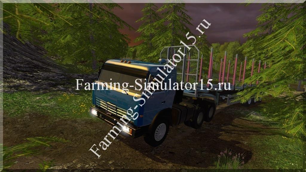 Мод грузовика Камаз Kamaz 54115 v 1.1 Farming Simulator 15, 2015