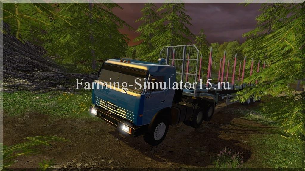 Мод грузовика Камаз Kamaz 54115 v 1.0 Farming Simulator 15, 2015