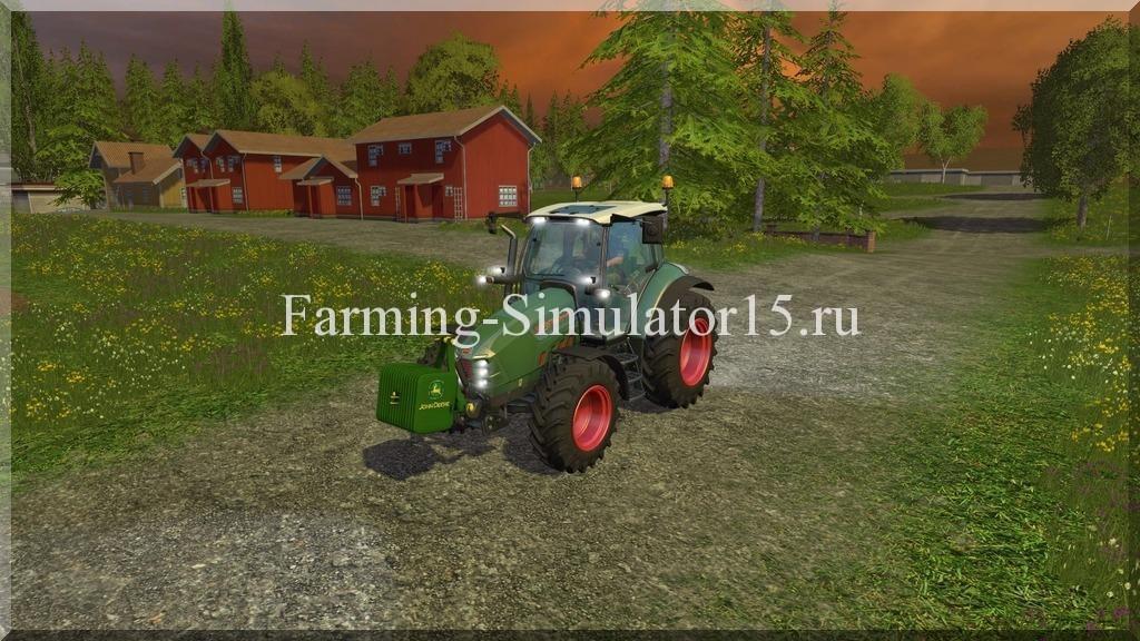 Мод противовеса John Deere Gewicht v 1.2 Farming Simulator 15, 2015
