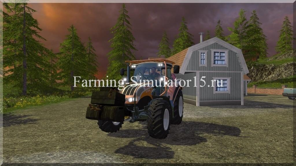Мод противовеса Homemade weight v 1.0 Farming Simulator 15, 2015