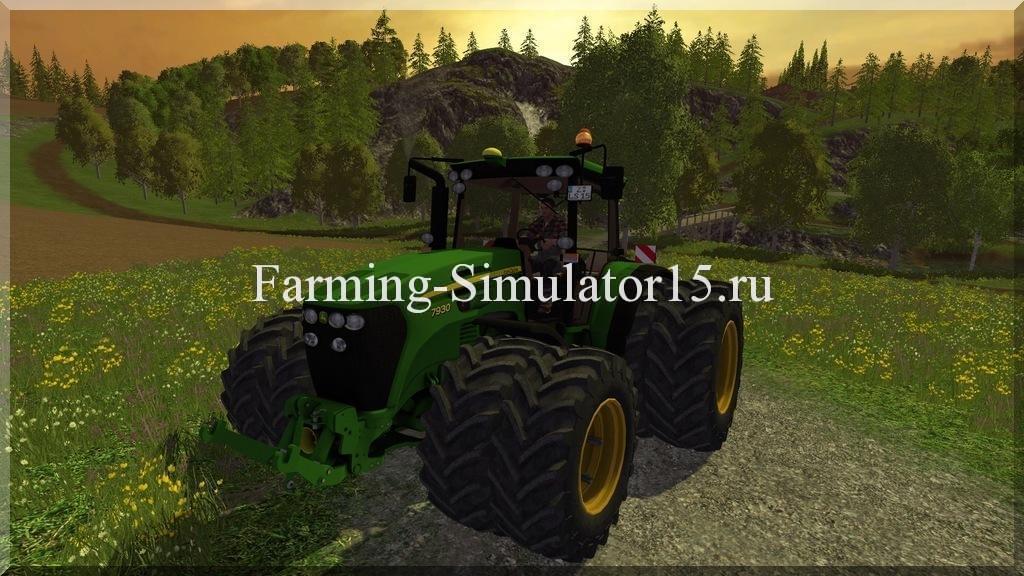 Мод трактора John Deere 7930 v 2.0 Clean Farming Simulator 15, 2015