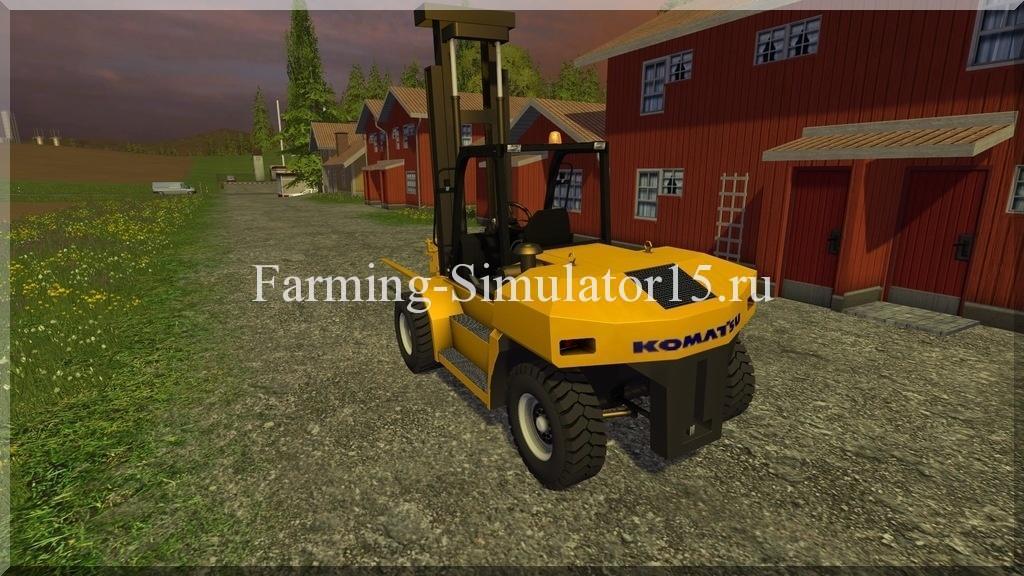 Мод погрузчика Komatsu EX 50 2015 V1.0 Beta Farming Simulator 15, 2015