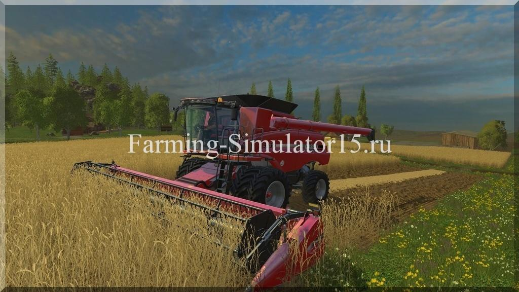 Мод комбайна Case IH Axial Flow 9230 Twin Wheels v 1.1 Farming Simulator 15, 2015