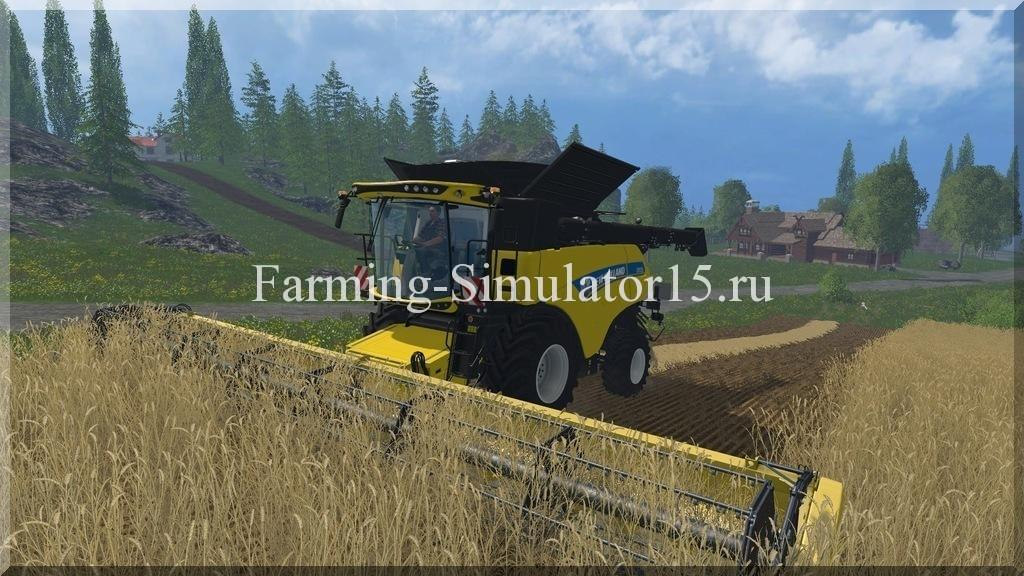 Мод комбайна New Holland CR 1090 Wheels v 1.0 Farming Simulator 15, 2015
